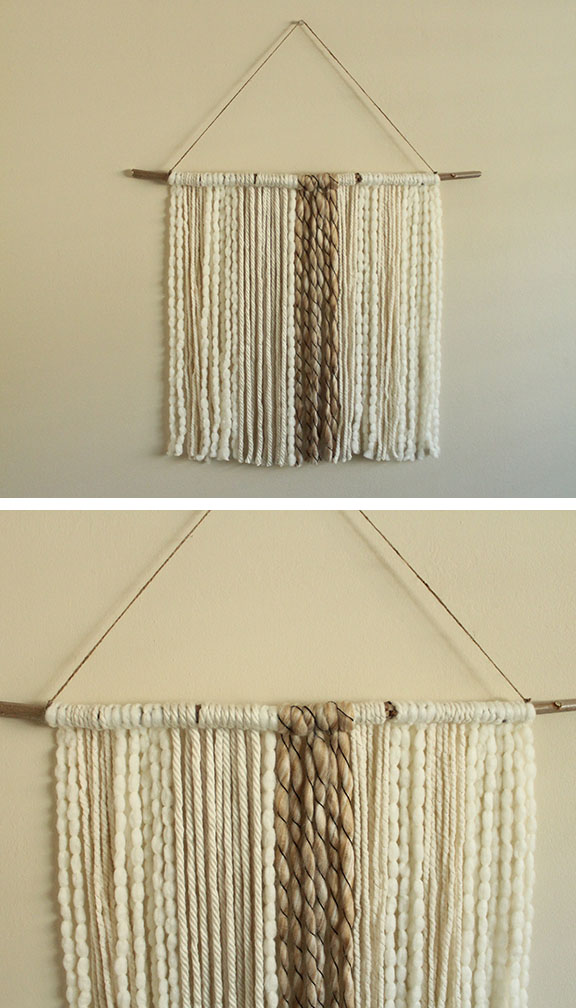 Boho Wall Hanging diy boho yarn wall hanging » everything brendy